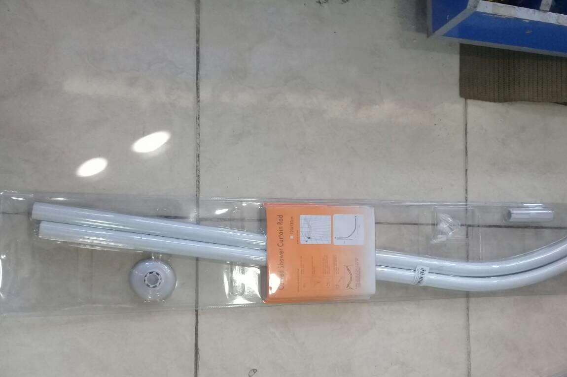 Լոգարանի վարագույրի ձող (90սմ,օվալ,սպիտակ)