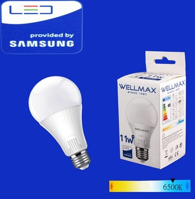 Էլ.լամպ LED Wellmax 11W daylight (A60 E27 6500)K