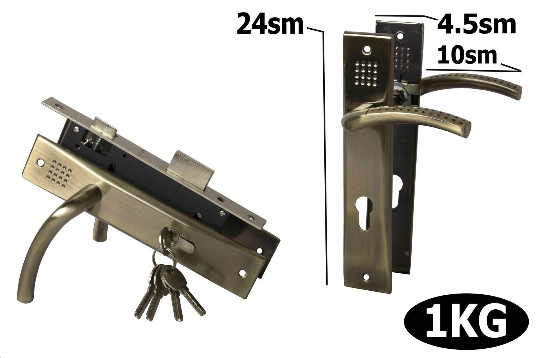 Դռան փականի կոմպլեկտ բանալիով F811-T96 AB