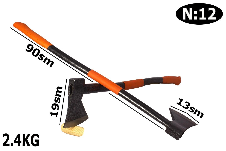 Կացին՝ մետաղական պոչով, ռեզինե բռնակով 1250գ (2.450)