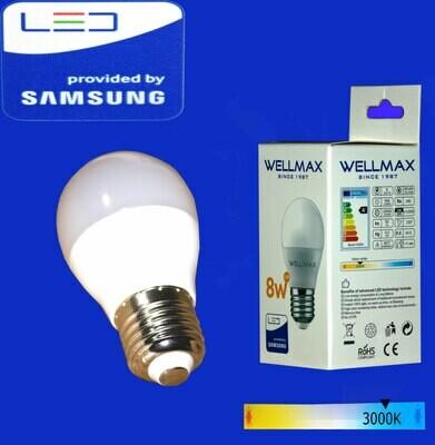 Էլ.լամպ LED Wellmax  08W (G45 3000K)