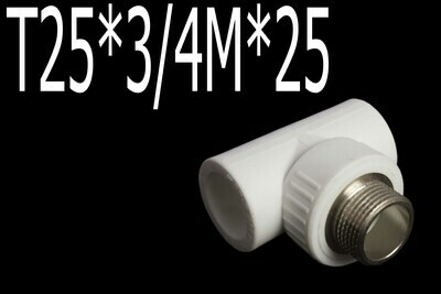 Պայկի դետալ PPR T25*3/4M*25