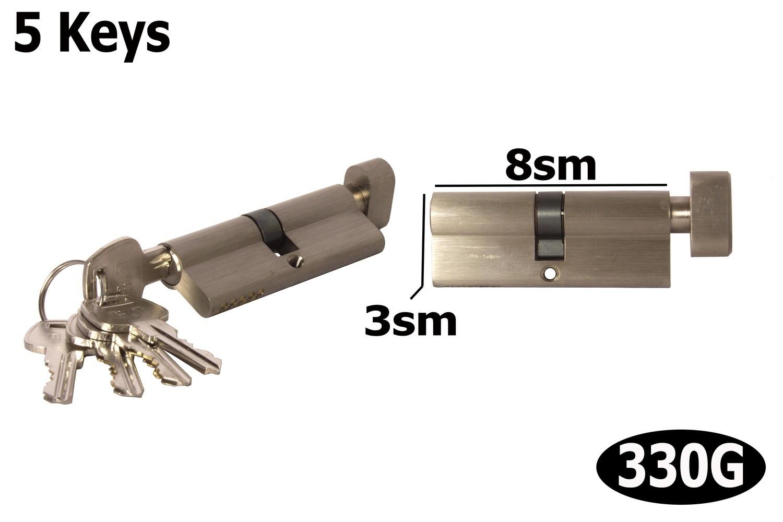 Դռան փականի միջուկ  80 5k brass SN