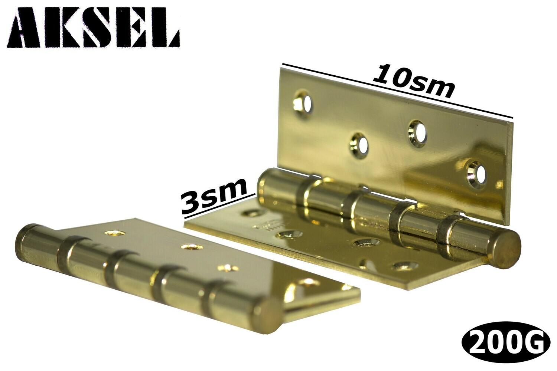 Դռան ծղնի Aksel ունիվերսալ 10 սմ (ոսկեգույն)
