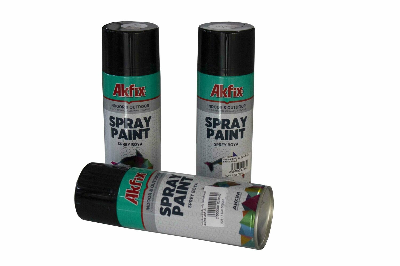 Ներկ-սփրեյ սև (անփայլ) AKFIX 400 մլ