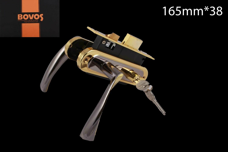 Դռան փականի կոմպլեկտ 62-F10-L93 BN/GP բանալիով BOV