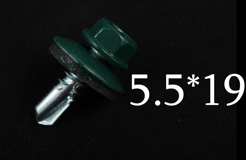 Պտուտակ տանիքի 5.5*19 (կանաչ)