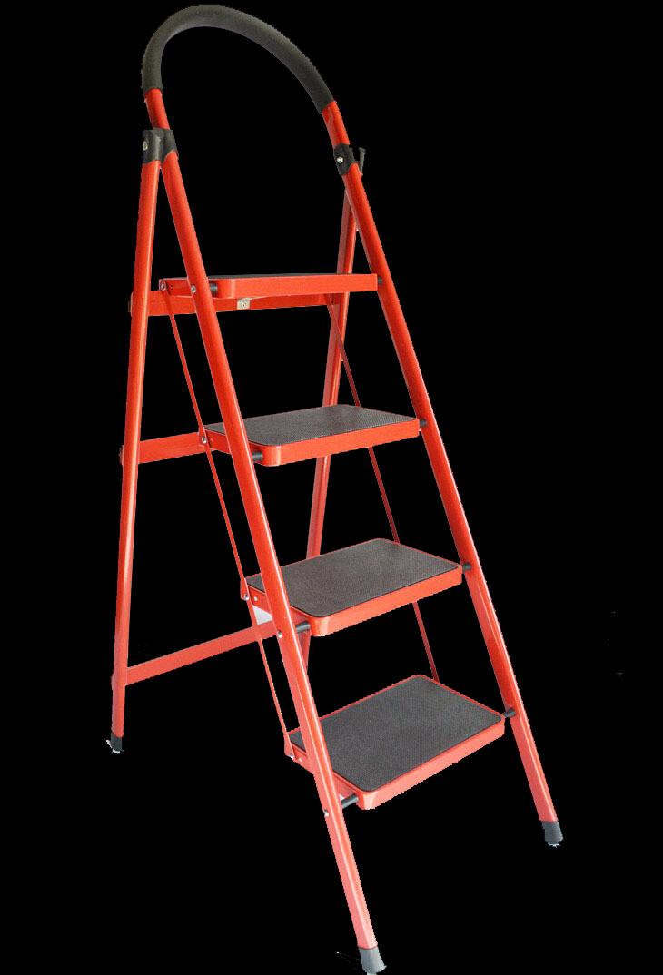 Աստիճան բացվող (4 քայլ,կարմիր)