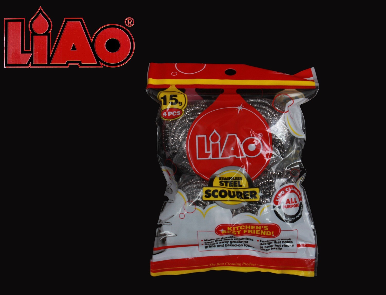 Liao Սպունգ մետաղյա 4Հատ  H130047