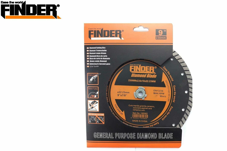 FINDER Սկավառակ կտրող 230mm turbo 195562