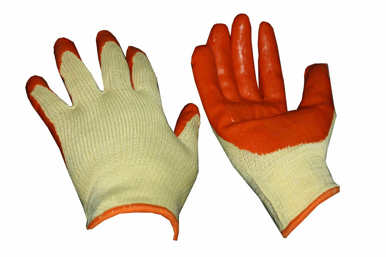 Բանվորական ձեռնոց (նարնջագույն-սպիտակ, հաստ)