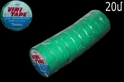 Ժապավեն մեկուսիչ VINI TAPE օրիգինալ կանաչ 20մ