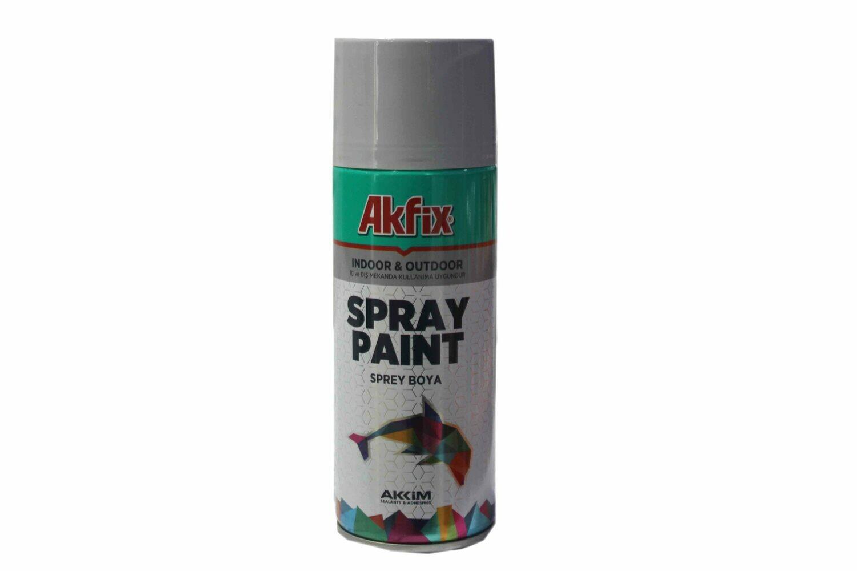 Ներկ-սփրեյ մոխրագույն (փայլով) AKFIX 400 մլ