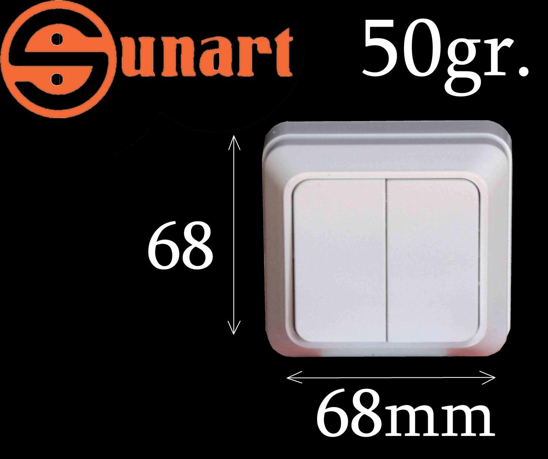 Sunart Էլ.անջատիչ արտաքին SR-1804 (2 տեղ)
