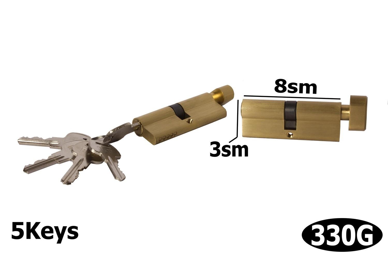 Դռան փականի միջուկ  80 5k brass GP