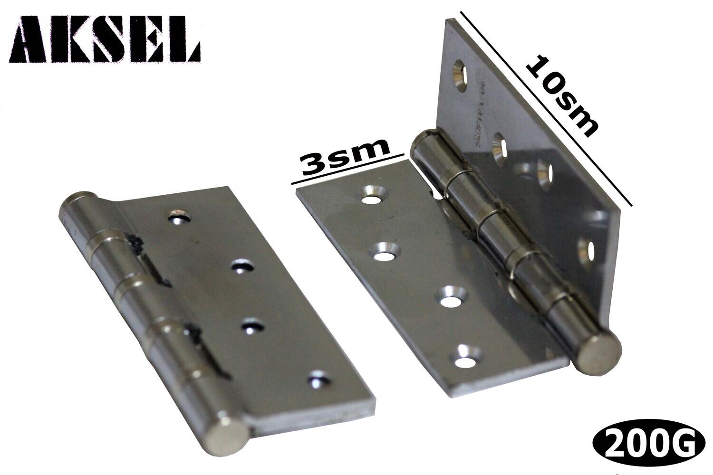 """Դռան ծղնի Aksel ունիվերսալ 10 սմ AK4"""" 4BB (CP) 1 կ"""