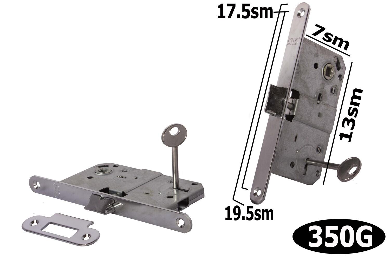 Դռան փականի մեխանիզմ բանալիով SD 410 K CP