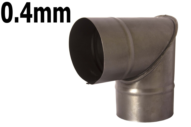 Վառարանի խողովակի արմունկ սև 0.4մմ