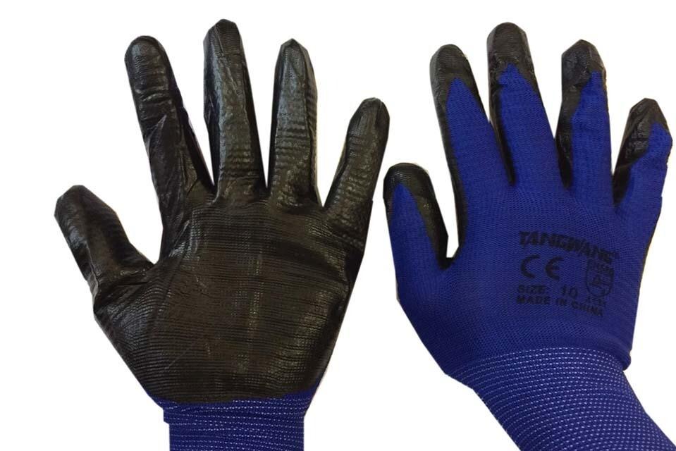 Բանվորական ձեռնոց (կապույտ, սև) TANGWANG 4131