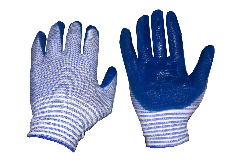 Բանվորական ձեռնոց (կապույտ գծավոր)