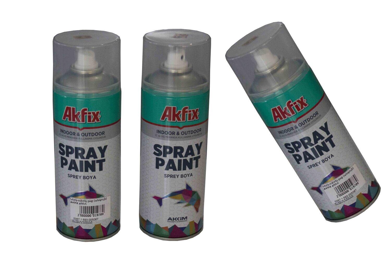 Ներկ-սփրեյ լաք (անգույն) AKFIX 400մլ