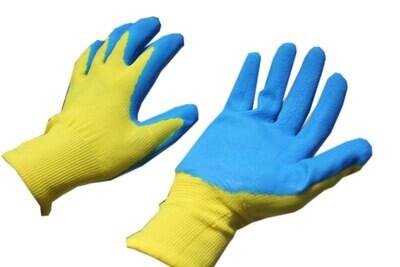 G_Բանվորական ձեռնոց դեղին-կապույտ( տեղական )_G