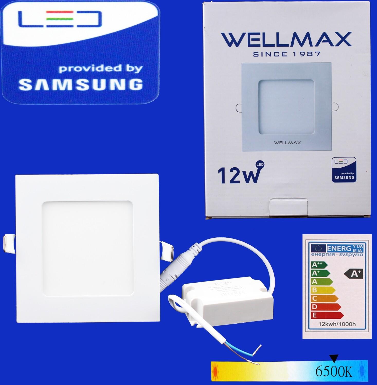 Էլ.պլաֆոն LED Wellmax քառակուսի 12W 6500K, Не годен