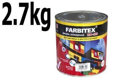 Ա էմալ ալկիդ. ՊՖ-115 Երկնագույն Farbitex ( 2,7 կգ.)