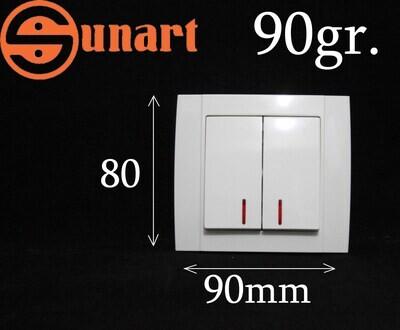 Sunart Էլ.անջատիչ ներքին 2 տեղ լույսով SR-2502, Ограниченно годен