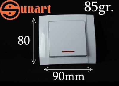 Sunart Էլ.անջատիչ ներքին 1 տեղ լույսով SR-2501, Ограниченно годен