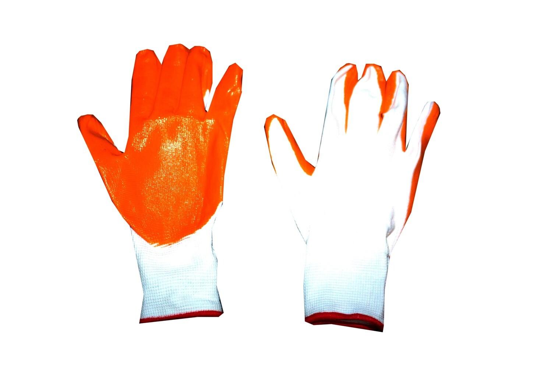 Բանվորական ձեռնոց (նարնջագույն,սպիտակ)