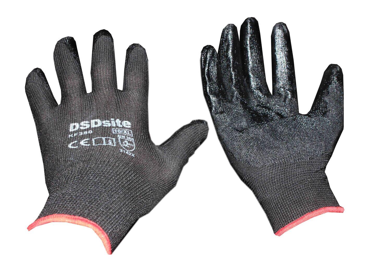 Բանվորական ձեռնոց (սև բարակ)