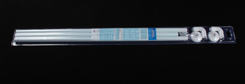 Լոգարանի վարագույրի ձող 3*90 (սպիտակ)