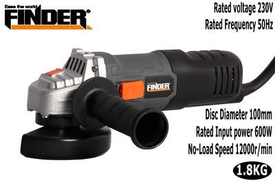 FINDER Անկյունահղկիչ 600W/100mm AC197310C
