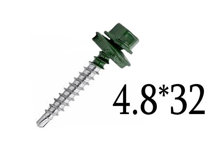 Պտուտակ տանիքի 4.8*32 (կանաչ)