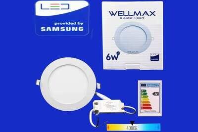 Էլ.պլաֆոն LED Wellmax կլոր 06W 4000K/Neutral white