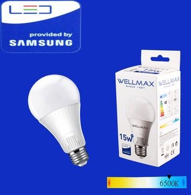 Էլ.լամպ LED Wellmax 15W/6500K/E27/A65/Daylight