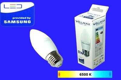 Էլ.լամպ LED Wellmax 8W daylight (C37 E27 6500
