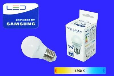 Էլ.լամպ LED Wellmax  05W (G45 6500K)