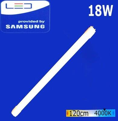 Էլ.լամպ խողովակաձև LED Wellmax 18W Neutral white (120սմ)  (T8, 4000K-G-13)