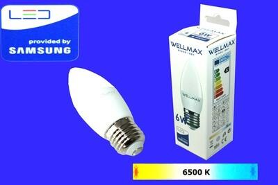 Էլ.լամպ LED Wellmax 6W daylight (C37 E27 6500