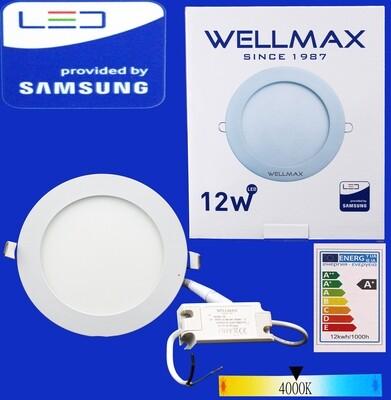 Էլ.պլաֆոն LED Wellmax կլոր 12W 4000K/Neutral white