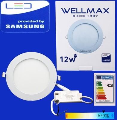 Էլ.պլաֆոն LED Wellmax կլոր 12W 6500K/Daylight