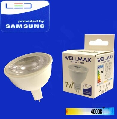Էլ,լամպ LED Wellmax  07W (GU5,3 4000K)