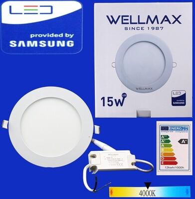 Էլ.պլաֆոն LED Wellmax կլոր 15W 4000K/Neutral white