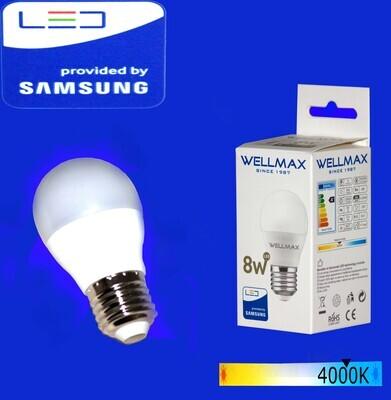 Էլ.լամպ LED Wellmax  08W/G45/E27/4000K/Neutral white