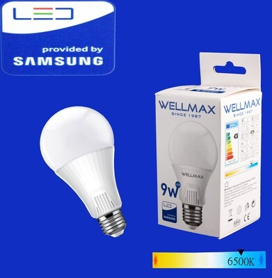 Էլ.լամպ LED Wellmax  09W/6500K/E27/A60/Daylight