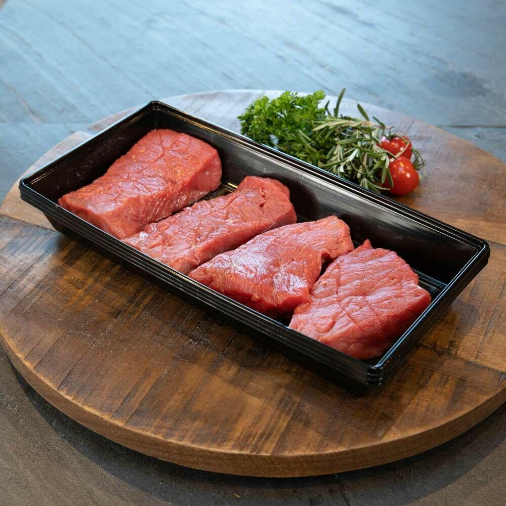 BBQ Biefstukjes (bak met 3 stuks).
