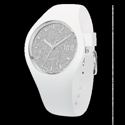 ICE glitter - White Silver