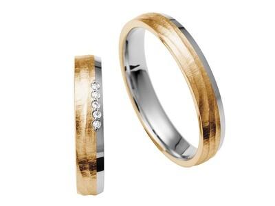 EHERINGSET WEISS MITTEL GOLD Bicolor   RING 585 / 000 Goldschmiede Juwelier EDER Feldbach